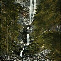 Antique printed postcard Llanrhaiadr Falls Near Oswestry England waterfall