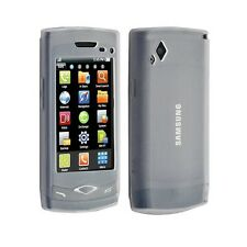 Housse étui coque silicone transparente pour Samsung Wave S8500 couleur blanche