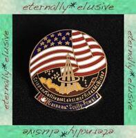 Rare Vintage 1984 NASA STS-41G Landing Scully Power Metal Brooch Badge Lapel Pin