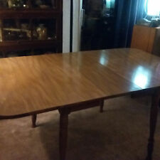 Classic Vtg Butterfly Dropleaf Dining Table Top Hard Rock Andover Maple Extends