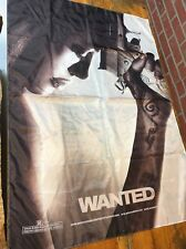 Original Wanted Promotional Movie Poster Made Out Of Polyester Sample Universal