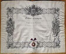NAPOLEON III - Pièce signée 1854