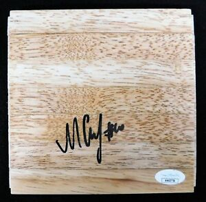 Sviatoslav Mykhailiuk Los Angeles Lakers Signed 6x6 Floorboard JSA Authenticated