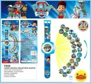 PAW PATROL Ryder, Marshall, Chase, Skye, Rocky, Zuma Projector Watch 20 Images