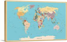 ARTCANVAS World Map Canvas Art Print