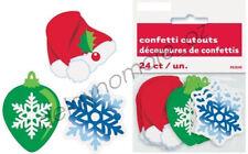24x Christmas Xmas Party Cardboard Cutouts Confetti Table Treat Bags Decoration