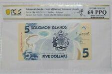 2019 SOLOMON ISLANDS 5 Dollars PCGS69 EPQ SUPERB GEM UNC @ First Prefix A/1
