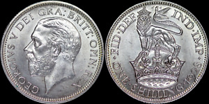 1928 George V Silver Shilling - High Grade