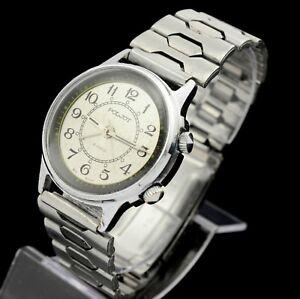 "Original POLJOT VIBRO ""BZZZZZZ"" ALARM vintage Russian Soviet  mechanical watch"