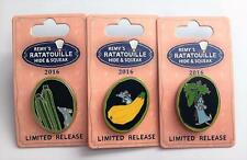 Disney Remy's Ratatouille Hide and Squeak Herbs Squash Zucchini 3 Pin Set