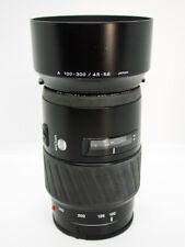 Minolta Maxxum AF 100-300mm f4.5-5.6 Zoom Lens (Sony A-Mount)