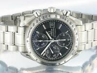 OMEGA SPEEDMASTER GENTS CHRONOGRAPH WATCH STAINLESS STEEL AUTOMATIC WITH BOX