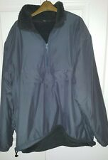 Very cool mens soft-shell winter fleece-lined pull over warm jacket, size Large
