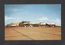 POSTCARD:  GREATER PITTSBURGH AIRPORT - TERMINAL & TWA PROP-DRIVEN AIRLINERS