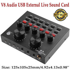 V8 Audio USB External Stereo Headset Microphone Webcast Live Sound Card Adapter