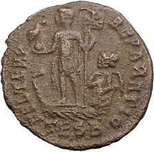 CONSTANS Constantine I son Ancient Roman Coin PHOENIX firebird Christ  i30999