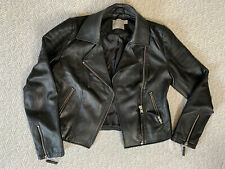 Asos Leather Look Biker Jacket Size 10