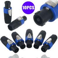 10 piezas NL4FC Pro 4 polos macho Speakon conector adaptador cable enchufe
