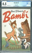 DELL FOUR COLOR 12 BAMBI 1942 RARE 15 CENT PRICE VARIANT CGC 4.5 OW-W PAGES