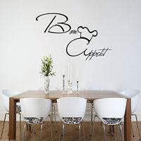 Bon Appetit Wall Art Sticker KItchen Vinyl Quote Decal Mural Stencil WSD454