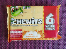 ICE CREAM CHEWITS SOFT CHEWY TANGY CLASSIC RETRO SWEETS - 6 x 30g PACKS - NEW