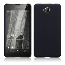Rock Cover Case Hybrid Rubberised Tech Rugged Survival Black Microsoft Lumia 650