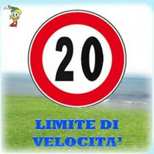 CARTELLI SEGNALETICI STRADALI DA CANTIERE LIMITE DI VELOCITA' 20 KM/H