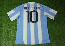 ARGENTINA TEAM #10 MARADONA 2010-2011 FOOTBALL SHIRT JERSEY HOME ADIDAS ORIGINAL