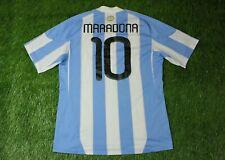 ARGENTINA TEAM #10 MARADONA 2010-2011 FOOTBALL SHIRT JERSEY HOME ADIDAS ORIGINAL