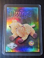 Ty Beanie Babies Series Ii S2 ~ Silver ~ Retired Bboc Card 288 Twigs the Giraffe