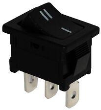 Interruptor conmutador de botón SPDT ON-(ON) 10A/250V 16A/12V, 1 posición, Negro