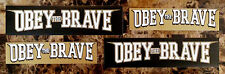 OBEY THE BRAVE Salvation/Young Blood RARE Stickers +FREE Metal Rock Stickers Lot