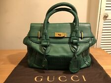 GUCCI GREEN WOVEN LEATHER HANDBAG! Used! Only 899,90!!!