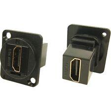 Cliff CP30200G XLR Feedthrough HDMI A Female to HDMI A Au Plated CSK Hole