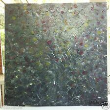 Original Abstract Oil Painting Artwork Wild Rose Bush by Sblik 30 x 30""