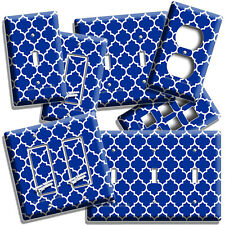 Geometric Blue White Arabic Pattern Light Switch Outlet Wall Plate Room Hd Decor