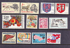 Czechoslovakia postage stamps - Pre-Cancelled MINT Hinged - 12 x Odds (full gum)
