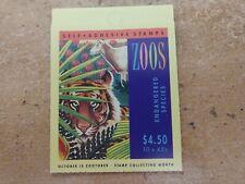 Australian stamps 1994 ZOOS Endangered species booklet  Cheetah/ scarlett macaw