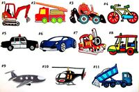 Vehicle Transport Agriculture Construction Car Plane Kids T-Shirt Iron on Patch