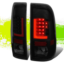 PAIR BLACK SMOKED TAIL LIGHT 3D LED RED L-STREAK OE FITMENT FOR 08-16 SUPER DUTY