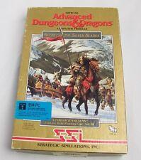 """DUNGEONS&DRAGONS-'Secret Silver Blade'-5 1/4"""" DISK Computer GAME-IBM PC-Vtg-1990"""