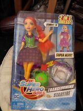 "DC SUPER HERO GIRLS~TRANSFORMING STARFIRE ACTION DOLL W/ ACCESSORIES~NIP 12"""