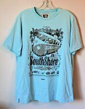 South Shore Mens XL T Shirt Tee Blue Surfing Short Sleeve Summer Of Love Cotton