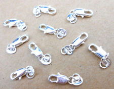 50PCS MAKING DIY Jewelry Findings 925 Sterling Silver Lobster Clasps Hallmark