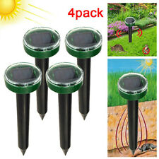 4PCS Solar Power Ultrasonic Pest Animal Repeller Snake Mole Rat Mouse Repellent
