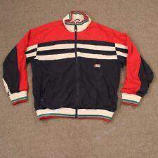 VTG Rossignol Jacket Coat L Large 90s Color Block Retro Red White Blue Actif