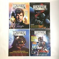 4 The Lucasfilm Fan Club Magazine Issues #18 19 20 21 Anniversary Struzan Jedi