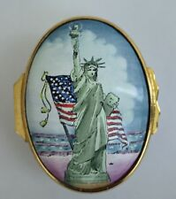 Halcyon Days Enamels England Statue of Liberty 100 Years. Design by Tiffany & Co