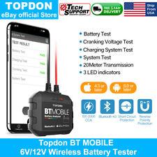 Topdon Automotive 6V/12V Wireless Battery System Tester Charging Cranking Test