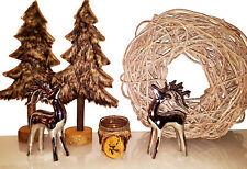 XXL abeto Decoración Marrón Piel madera 39cm de alto árbol Navidad